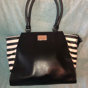 Nine West Black and White Striped Bag